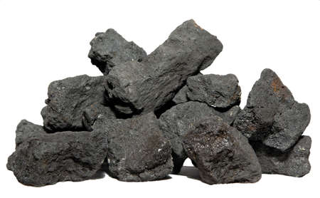 carbonaceous: Coal on white background