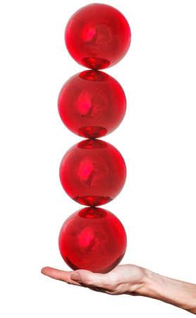 Balls to balance on hand
