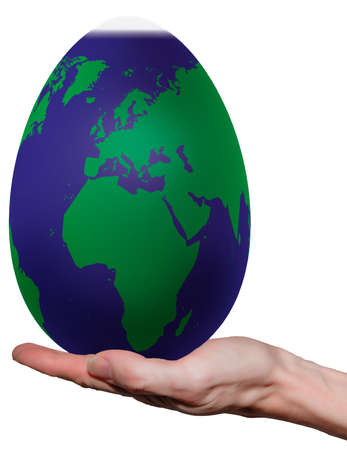 Globe in the form of an egg, is obvious  photo
