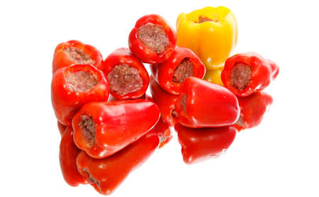 Stuffed peppers with ground beef  On mirror Stock Photo - 18310548