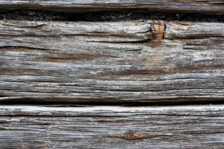 uncoated: Old wooden beams of the weathered and faded is received in the Frontal