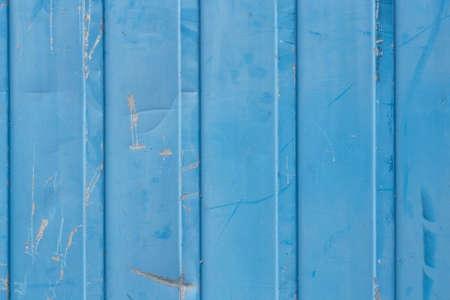 scarring: Blu sbiadito, livida, parete di lamiera in blu