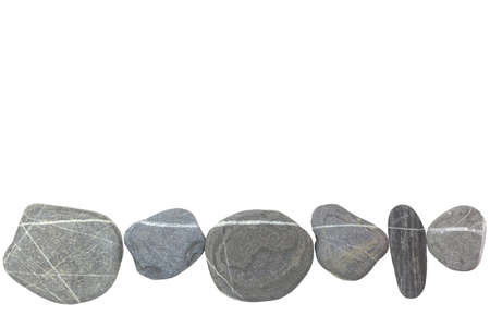 inclusions: Stones in series with white lines on a white background.