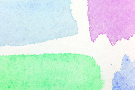 greenish blue: Interestingly background of watercolor glaze with four colors.