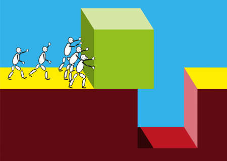 blockade: Group is supported by further in solving the problem. Illustration