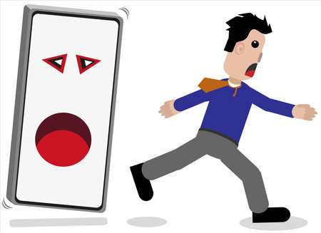 Mobile phone hunts man