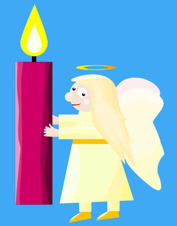 Angel carrying burning candle.