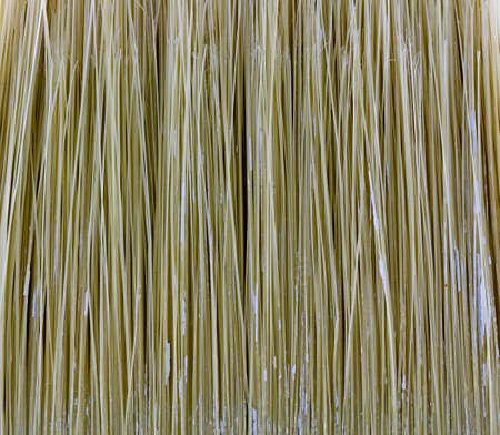 Brush bristles in closeup. 免版税图像