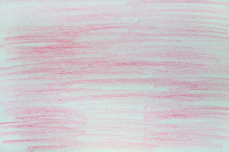 Red chalk marks on paper.