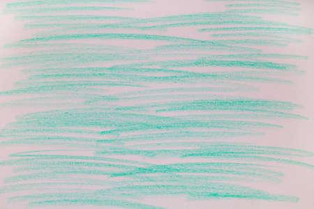 Blue green chalk marks on paper. 免版税图像