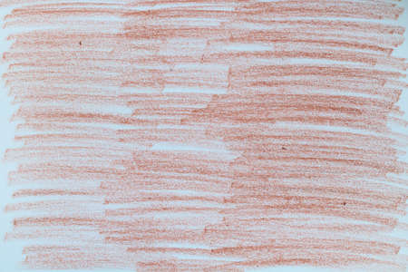 Red brown chalk marks on paper.