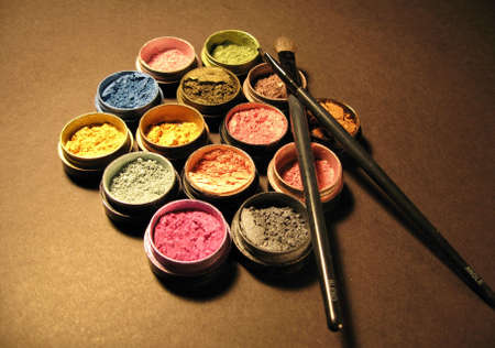 stage makeup: Make-up, pennelli, la cosmetica, il make-up e di spazzole