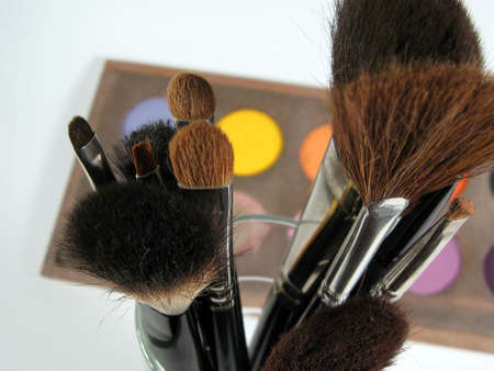 make-up and brushes photo
