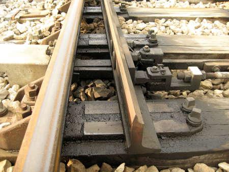 railway pair,railway control center,two tracks  photo