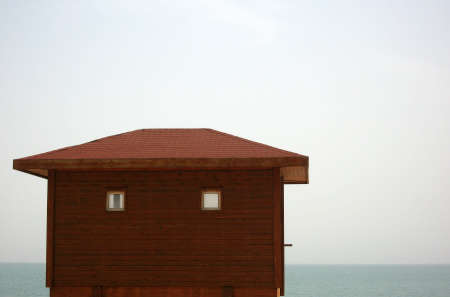 horison: Dead sea house horison Stock Photo