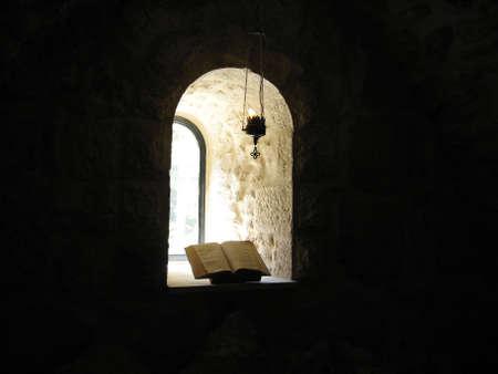 Window and bible photo