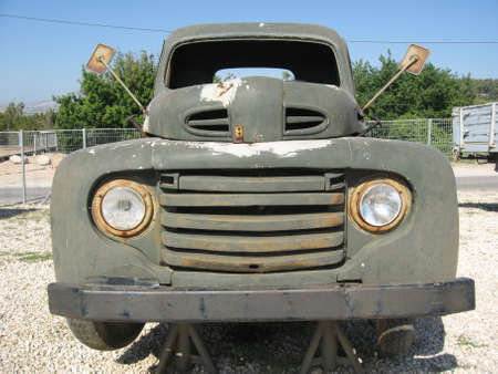 Front end of old truck photo