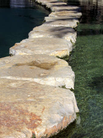Highway as to stones through water Stock Photo - 1615278