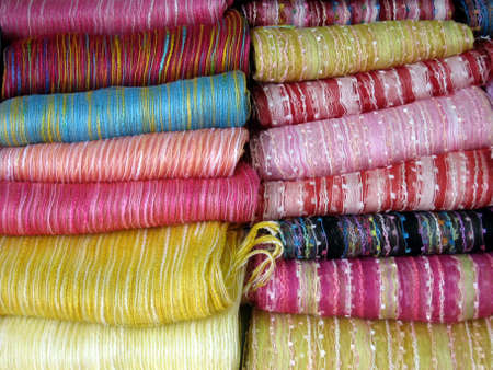 Stock photo of colorful textiles photo