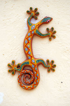 colored lizard on wall  Stock Photo - 1929756
