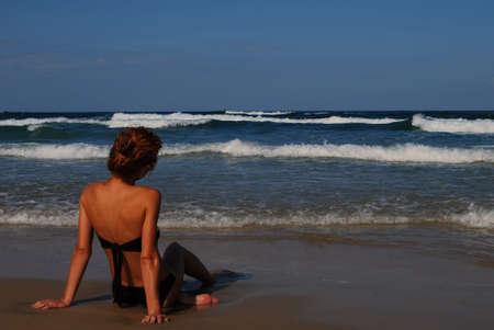 Woman on the beautiful beach of sea Stock Photo - 3538315