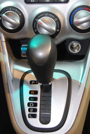 gearshift: Manual metallic Gearshift Lever Close-up