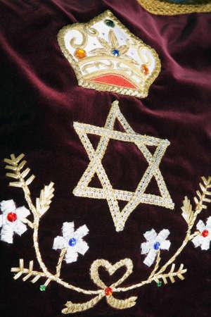 mitzvah: Bar Bat itzvah religious symbol, decoration ornament