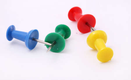 variation of pins, office supply objects