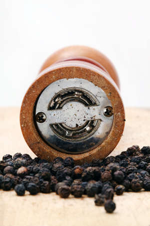 black pepper and pepper shaker front view