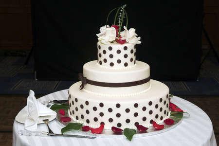 elegant decoraited Wedding cake Banco de Imagens