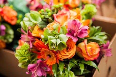 Gerbera, rose and Variation of flowers, bouquet