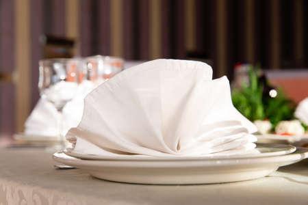 Served table in the restaurant 版權商用圖片