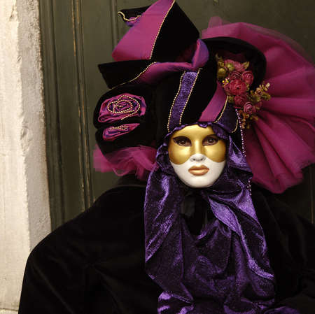VENICE - FEBRUARY 17: The Carnival of Venice is an annual festival that starts around two weeks before Ash Wednesday and ends on Shrove Tuesday or Mardi Gras in February 17, 2007 in Venice, Italy. Stock Photo - 9272126
