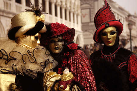 masque: VENICE - FEBRUARY 17: The Carnival of Venice is an annual festival that starts around two weeks before Ash Wednesday and ends on Shrove Tuesday or Mardi Gras in February 17, 2007 in Venice, Italy.