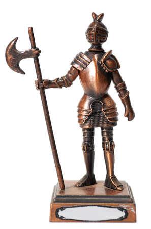 alabarda: figura del cavaliere isolato su bianco
