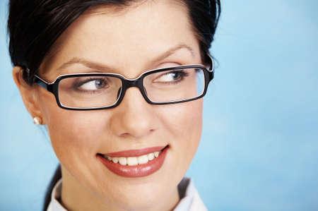 young beautiful  smiling caucasian doctor photo