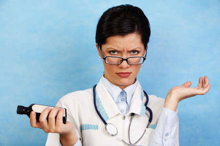 beautiful caucasian female doctor photo