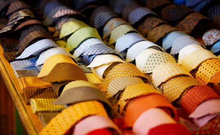 mens: a lot of mens neck ties in the shop