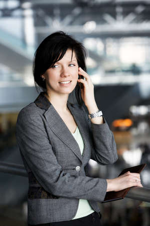 careerist: young confident caucasian businesswoman in the working space