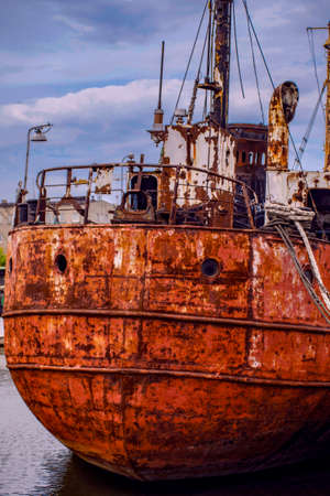 abandoned Red ship