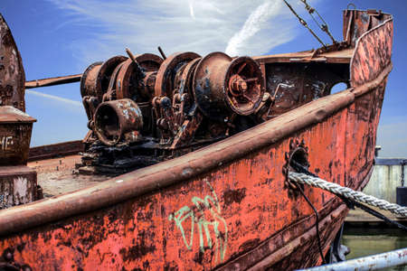 abandoned Old ship