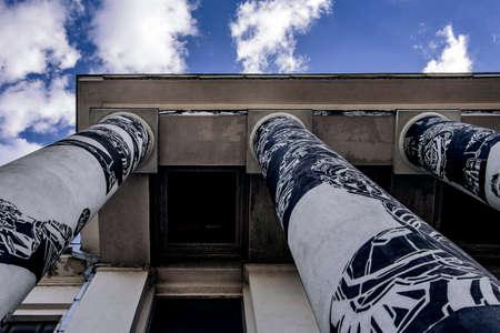 Graffiti buiding Banque d'images