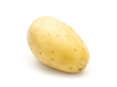 single organic potatoe isolated on white background Stock Photo - 19504376