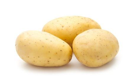 heap of potatoes isolated on white background Stock Photo - 19504377