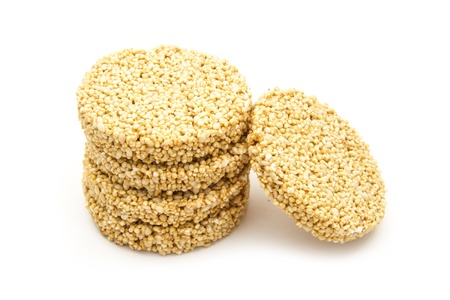group of amaranth cookies isolated on white background Stock Photo