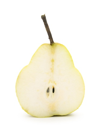 pear isolated on white background, cross section Stock Photo