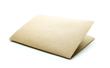 sheet of blank paper isolated on white background Stock Photo