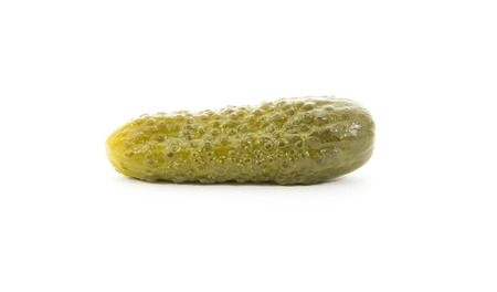 single pickle isolated on white