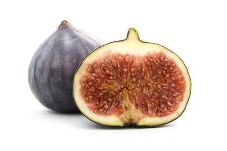ripe figs isolated on white