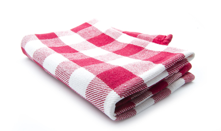 clean kitchen cloth isolated on white background Stock Photo